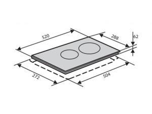 Варочна поверхність індукційна Ventolux VI 32 TC WH nalichie