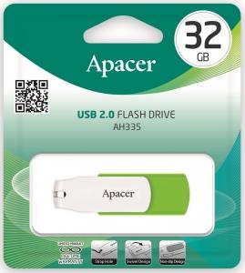 Флеш USB 32 Gb Apacer AH335 Green (AP32GAH335G-1)