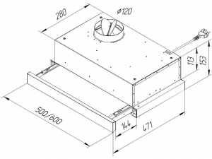 Витяжка телескопічна Pyramida TL 50 SLIM IX nalichie