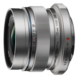 Об'єктив OLYMPUS EW-M1220 ED 12mm 1:2.0 Срібло (5874552)