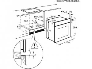 Духова шафа Electrolux OEF5E50X nalichie