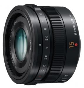 Об`єктив Panasonic Micro 4/3 Lens 15mm Black (H-X015E-K)