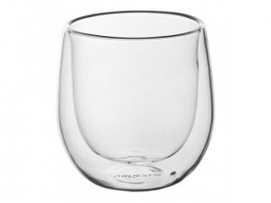 Набір чашок Ardesto з подвійними стінками для американо, 120 мл, H 7,5 см, 2 од., (AR2612G)