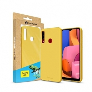 Чохол для смартфона MakeFuture Flex Case (Soft-touch TPU) Samsung A20s Yellow