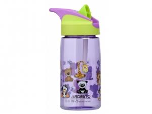 Пляшка для води Ardesto Funny animals дитяча 500 мл, ( AR2201TA) зелена,