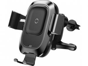 Зарядний пристрій бездротовий для авто Baseus Smart 2А чорн