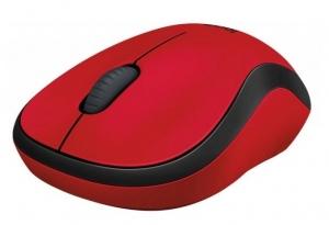 Мишка безпровідна LOGITECH Wireless Mouse M220 Silent Червоний