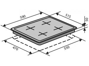 Варочна поверхність газова Ventolux HSF640-D3 CEST (X) nalichie