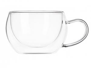 Набір чашок з ручками Ardesto з подвійними стінками, 270 мл, H 7,5 см, 2 од. (AR2627GH)