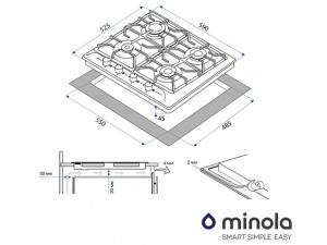 Варочна поверхність газова Minola MGM 61024 IV nalichie
