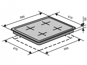 Варочна поверхність газова Ventolux HSF640-R3G CESBT (BK) nalichie