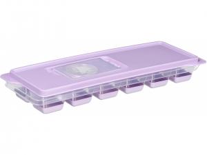Форма для льоду Ardesto Fresh, з кришкою, ліловий, силікон, пластик
