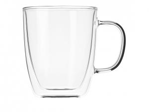 Набір чашок з ручками Ardesto з подвійними стінками, 400 мл, H 11,2 см, 2 од. (AR2640GH)