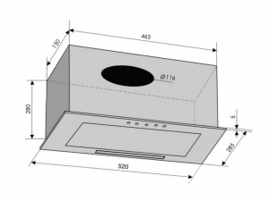 Витяжка повновбудована VENTOLUX BOX 60 INOX (650) PB nalichie