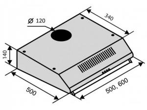 Витяжка плоска Ventolux ROMA 50 BR LUX nalichie