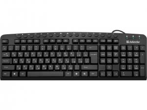 Клавіатура провідна DEFENDER (45470) Focus HB-470 RU чорний