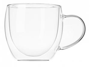 Набір чашок з ручками Ardesto з подвійними стінками, 250 мл, H 8,2 см, 2 од. (AR2625GH)