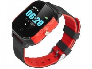 Смарт годинник GOGPS К23 чорний з червоним