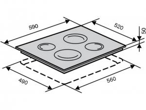 Варочна поверхність індукційна Ventolux VI 64 TC WH nalichie