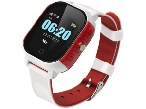 Смарт годинник з GPS трекером GOGPS К23 білий з червоним