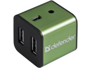 USB Hub DEFENDER 4xUSB 2.0 QUADRO POWER+Adapter 220v