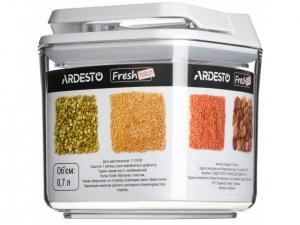 Контейнер для сипучих Ardesto Fresh  0.7 л,білий
