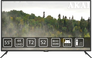 Телевізор Akai UA55LEP1UHD9+Bluetooth Voice Remote Control