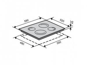 Варочна поверхність електрична Ventolux VB 60 TC SL nalichie