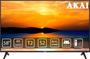 Телевізор Akai UA58LEP1UHD9+Bluetooth Voice Remote Control