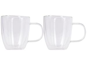 Набір чашок з ручками Ardesto з подвійними стінками, 310 мл, H 10,2 см, 2 од. (AR2631GH)