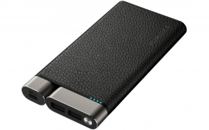 УПБ PURIDEA X01 10000mAh Li-Pol +TYPE-C Leather Чорний