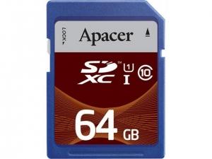 Карта пам'яті Apacer 64Gb class 10+SD
