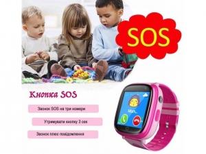 Смарт годинник GOGPS ME K14 Рожевий nalichie