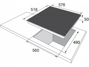 Варочна поверхність електрична Hansa BHC96508 nalichie