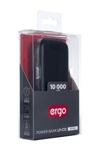 УПБ ERGO LP-С12 - 10000 mAh Li-pol TYPE-C (Чорний) nalichie