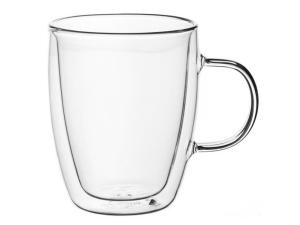 Набір чашок з ручками Ardesto з подвійними стінками, 270 мл, H 10 см, 2 од.(AR2627G)