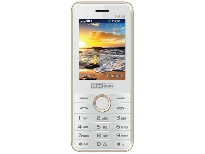 Мобільний телефон Maxcom MM136 White Gold