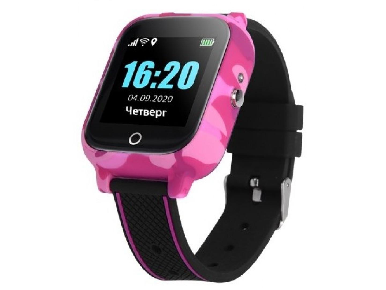 Смарт годинник з GPS трекером GOGPS T01 рожеві