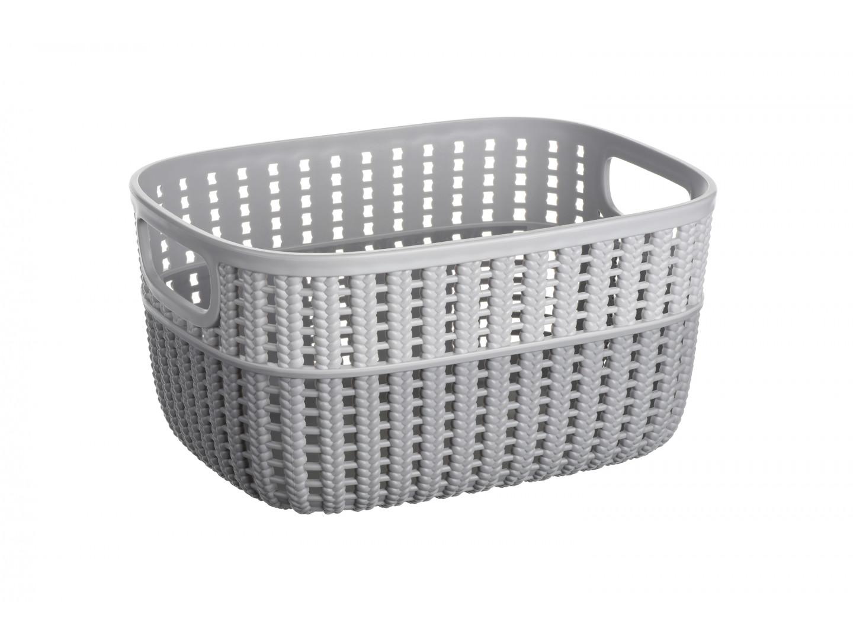 Корзинка плетена Ardesto Sweet Home AR1730GP, 3л, сірий