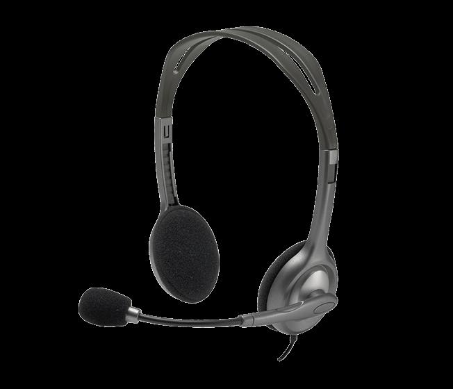 Навушники LOGITECH Гарнитура Stereo Headset H111 (сірий)